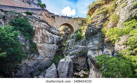 The Puente Nuevo bridge of Ronda in Andalusia, Spain