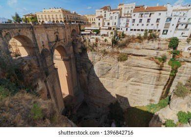 Puente Nuevo bridge in Ronda city Spain at summer season