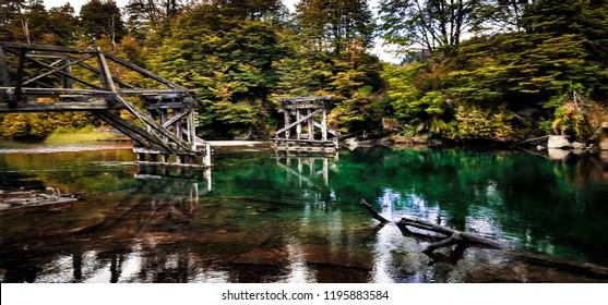 Puente Ruca Malen, Ruta de los Siete Lagos, Neuquen, Patagonia Argentina