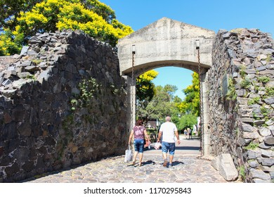 Puerta Del Campo the City gate and Entrance to the old part of town or historic quarter of Colonia Del Sacramento , Uruguay, South America