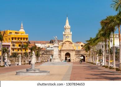 The Puerta del Reloj, Cartagena de Indias, Colombia
