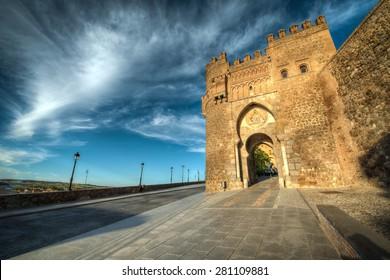 Puerta del Sol (City Gate) in Toledo, Spain