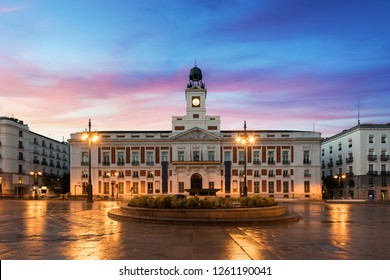 Puerta del Sol square is the main public space in Madrid. In the middle of the square is located the office of the President of the Community of Madrid.