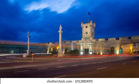 Puertas de Tierra Cadiz Spain by Night
