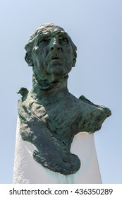 PUERTO BANUS ANDALUCIA/SPAIN - MAY 26 : Monument Dedicated to Don Juan de Borbon in Puerto Banus in Spain on May 26, 2016