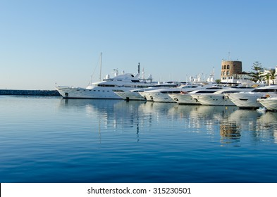 Puerto Banus, harbor the posh port of Southern Spain on July 2015.Popular destination in Europe.