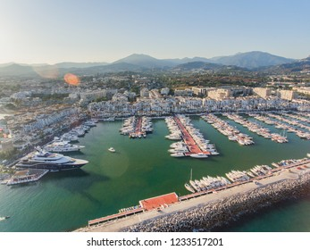 Puerto Banus Marbella, Spain. Harbour, Marina Luxury Yatchs