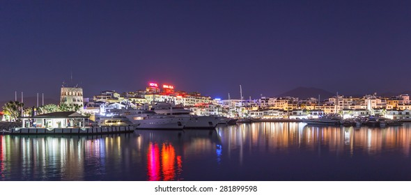 Puerto Banus, Marbella, Spain. - october 8, 2014: Puerto Jose Banus, It was built in May 1970 by Jose Banus. More commonly known as Puerto Banus is one of the most exclusive marina.