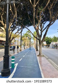 Puerto Banus, Spain - December 27, 2019: Bike land in street in Puerto Banus. High quality photo