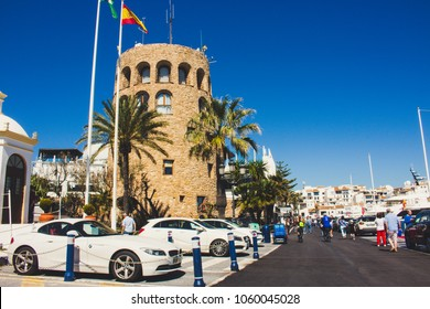 Puerto Banus. View of Puerto Banus, Marbella, Malaga, Costa del Sol, Spain. Picture taken – 27 march 2018.