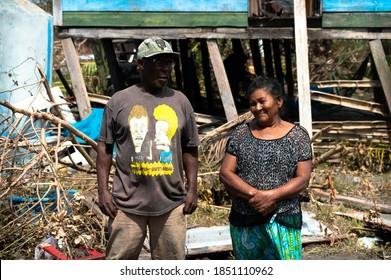 Puerto Cabezas, Nicaragua; November 7th 2020: Affected People by Hurricane Eta