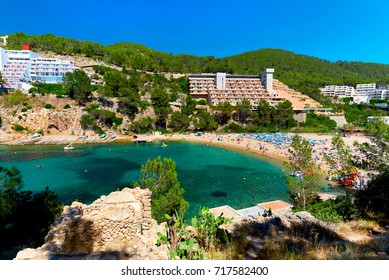 Puerto de San Miguel beach of Ibiza. Balearic Islands. Spain
