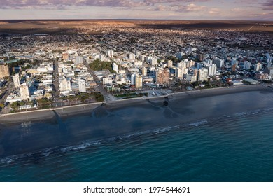 Puerto Madryn City, entrance portal to the Peninsula Valdes natural reserve, World Heritage Site, Patagonia, Argentina.