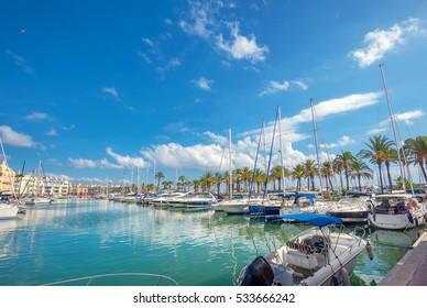Puerto Marina in Benalmadena. Costa del Sol, Malaga province, Andalusia, Spain