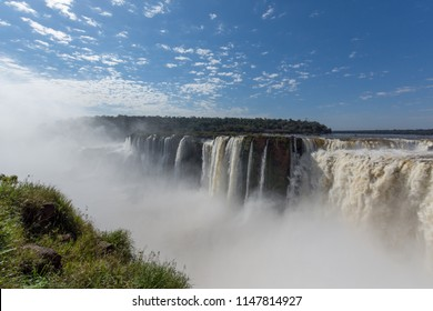 Puerto Iguazú, Misiones, Argentina. July 2018. Throat of the Devil in the Iguassu Falls seen by the Argentinean side.