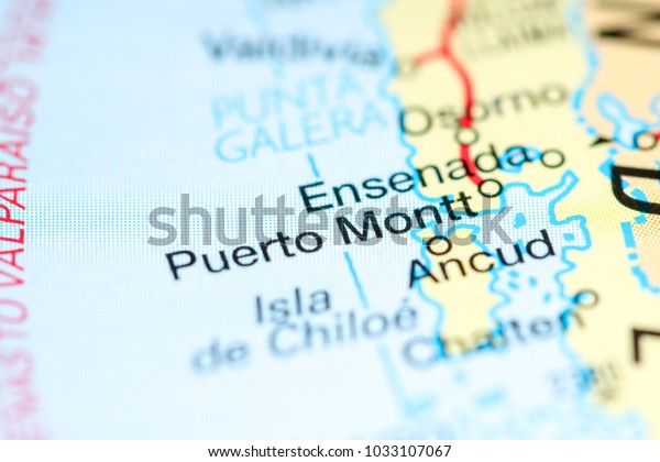 puerto montt chile map Puerto Montt Chile On Map Stock Photo Edit Now 1033107067 puerto montt chile map