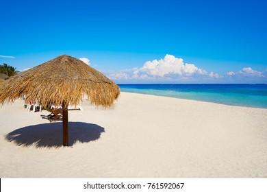 Puerto Morelos beach in Mayan Riviera Maya of Mexico