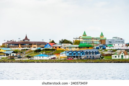 PUERTO NATALES, CHILE - NOV 6, 2014: Architecture of the Puerto Natales, the capital of  the province of Ultima Esperanza, one of provinces that make up the Magallanes and Antartica Chilena Region