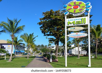 Puerto Plata, Dominican Republic - February 5, 2020:  The mall in the resort area of Playa Dorada that relies heavily on tourism.