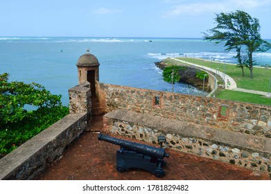 PUERTO PLATA, DOMINICAN REPUBLIC - FEBRUARY 16TH, 2016: View of the Caribbean Sea from the Fortress of San Felipe, Puerto Plata