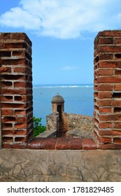 PUERTO PLATA, DOMINICAN REPUBLIC - FEBRUARY 16TH, 2016: The Caribbean Sea seen from the Fortress of San Felipe, Puerto Plata