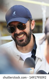 PUERTO PRINCIPE/HAITI - OCTOBER 13, 2010: Dominican singer Juan Luis Guerra talks to reporters in the inauguration of a hospital in Haiti. JLG is a multiple Grammy awarded latin american artist.