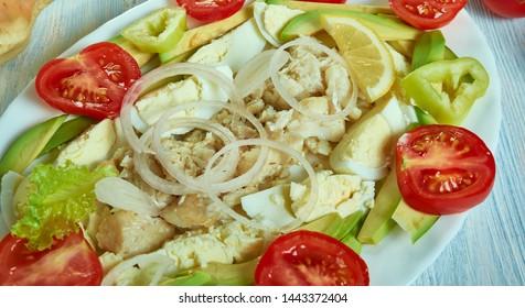 Puerto Rican Cod fish salad, Ensalada de Bacalao
