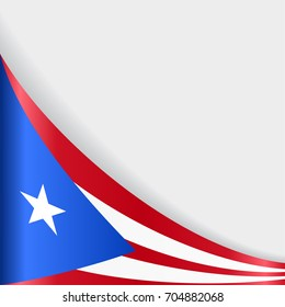 Puerto Rican flag wavy abstract background. Raster version.