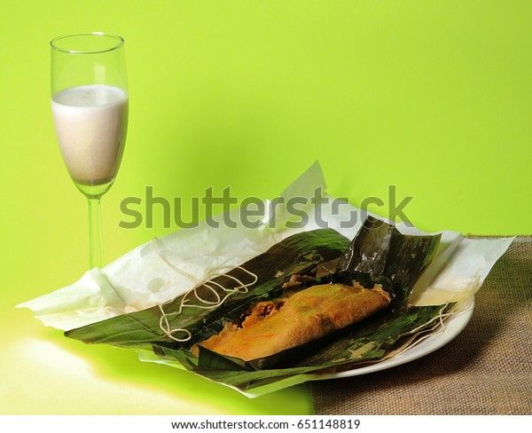 Puerto Rican Pasteles Coconut Liquor Drink Stock Photo Edit Now