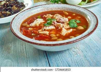 Puerto Rican Style beans, hearty  beans simmered in an aromatic sauce