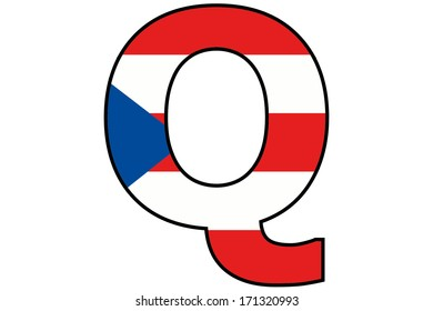 Puerto Rico Alphabet Illustration - Q