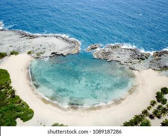 Puerto Rico Beach - Mar Chiquita - Manati Aerial from Drone