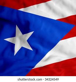 Puerto Rico cloth flag