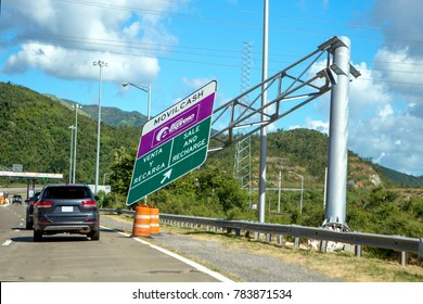 Puerto Rico December 2017 Hurricane Maria Damage Roads