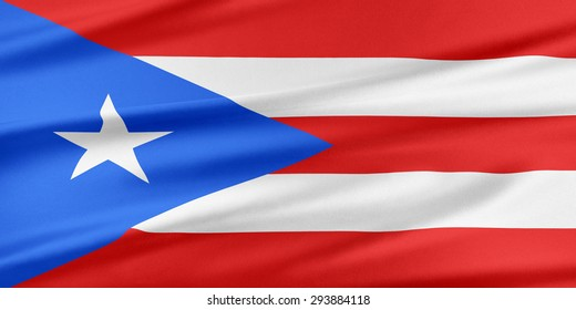 Puerto Rico Flag. Flag with a beautiful glossy silk texture.