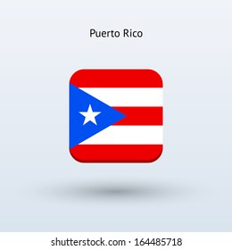 Puerto Rico flag icon. See also vector version.
