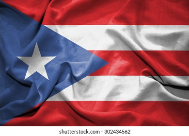Puerto Rico flag. illustration