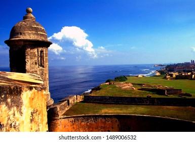 Puerto Rico, Old San Juan, Castillo de San Cristobal, Sentry box, December 13, 1993