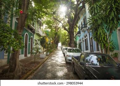 Puerto Rico - street of San Juan
