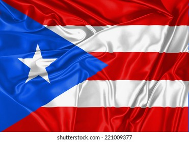 Puerto Rico - US waving flag