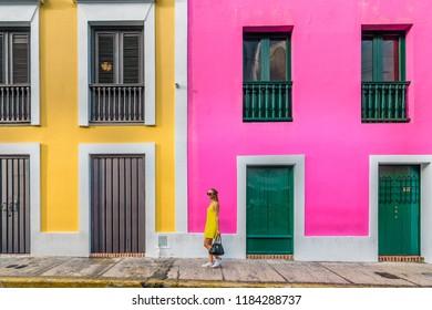 Puerto Rico, USA - December 12, 2017: Old San Juan.