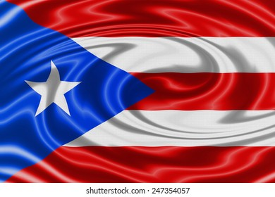 Puerto Rico waving flag
