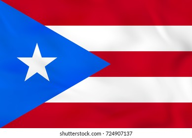 Puerto Rico waving flag. Puerto Rico national flag background texture. Raster copy.