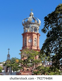 Puerto Vallarta, Jalisco/Mexico - January 12, 2018:  Church of Our Lady of Guadalupe