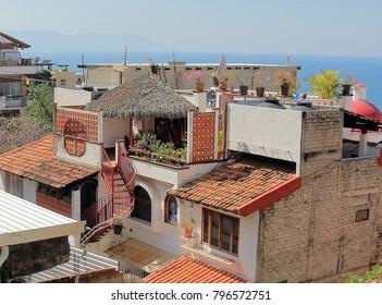 Puerto Vallarta, Jalisco/Mexico - January 15, 2018:  Villa in Old Town Mexico