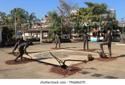 Puerto Vallarta, Jalisco/Mexico - January 15, 2018:  Hidalgo Square near the Malecon Boardwalk:  the heart of the neighborhood