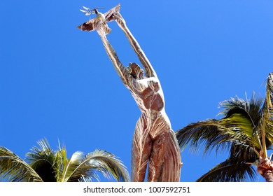 Puerto Vallarta, Jalisco/Mexico - January 19, 2018:  Statue with Outstretched Arms