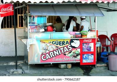 Puerto Vallarta, Jalisco/Mexico, January 9, 2018:  Mexican food cart