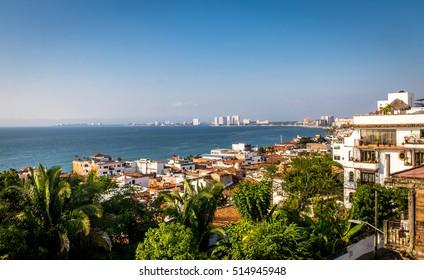 Puerto Vallarta sea and downtown view - Puerto Vallarta, Jalisco, Mexico