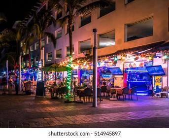 Puerto Vallarta shops at night - Puerto Vallarta, Jalisco, Mexico
